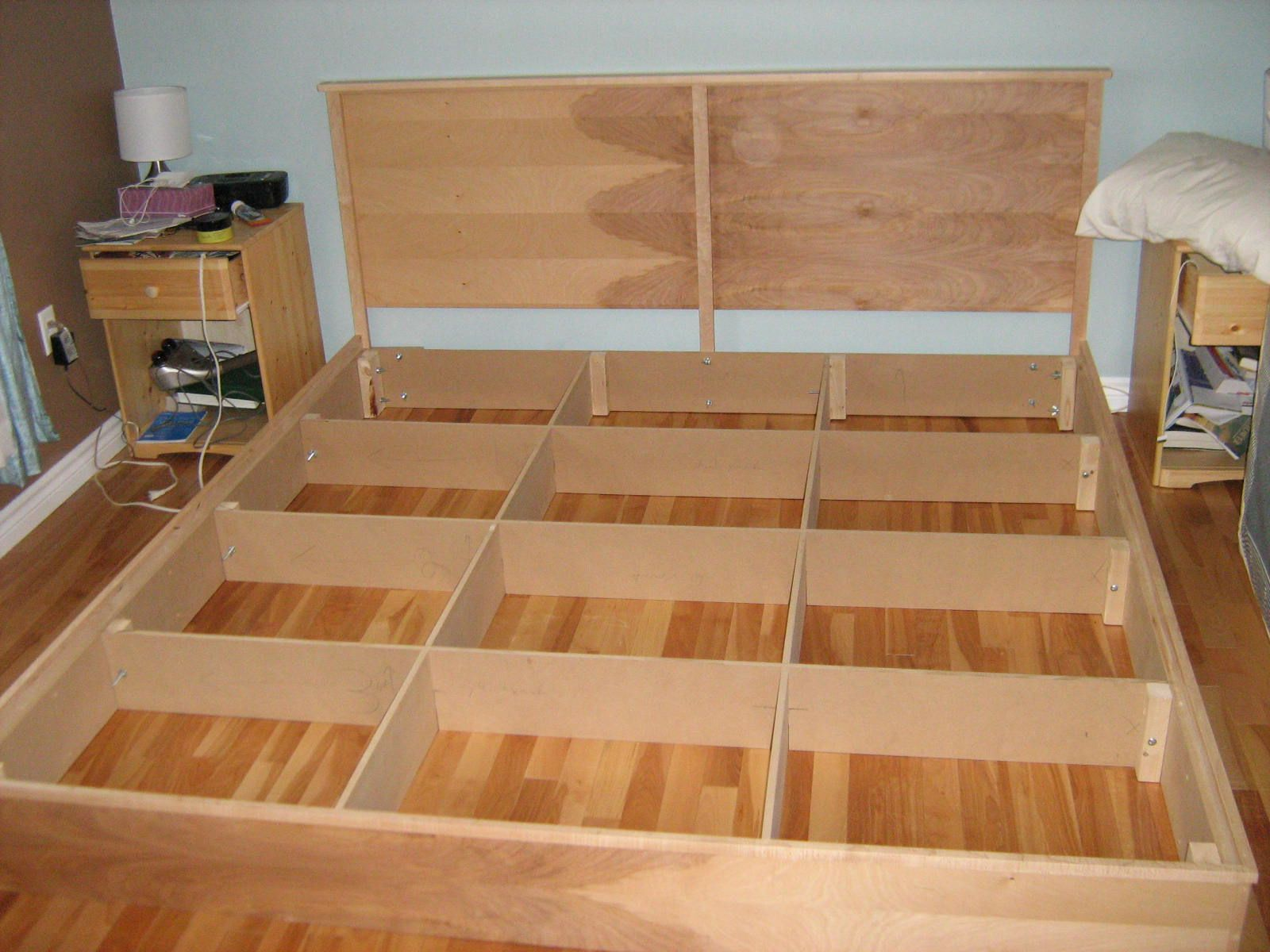 simple king platform bed plans